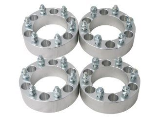 "(4) 2"" 6x5.5 (6x139.7) Wheel Spacers 14x1.5 studs for Escalade Sierra Yukon Suburban Silverado Automotive"