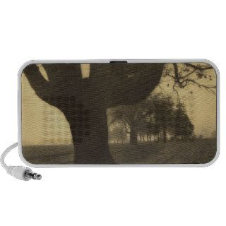 <Old Oak Tree on Tree Lined Road> by Kevin Cruff Notebook Speaker