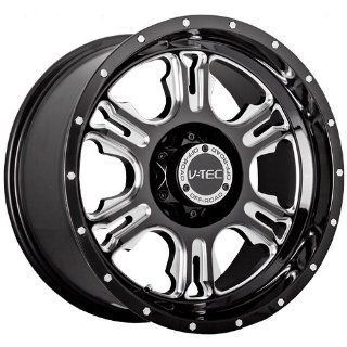 "V TEC Rage 397 Gloss Black Milled Spoke Rear Wheel with Chrome Bolts (17x9""/6x139.7mm) Automotive"