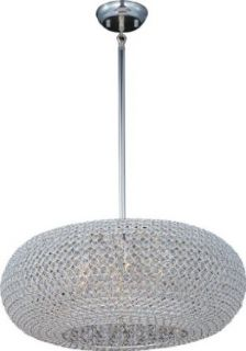 Maxim 39879BCPS 9 Light Down Light Pendant from the Glimmer Collection, Plated Silver   Ceiling Pendant Fixtures