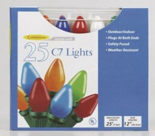 Celebrations C7 25 Indoor/Outdoor Light Set   Outdoor Lightstrings