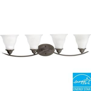 Progress Lighting Trinity Collection 4 Light Antique Bronze Fluorescent Bath Light P3193 20EBWB