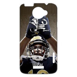 NCAA Notre Dame Fighting Irish Football Team Grading Irish Uniforms Logo Unique Durable Hard Plastic Case Cover for HTC One X + Custom Design UniqueDIY Cell Phones & Accessories