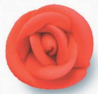 180 ct. ~ 1 in. Lucks Red Small Sugar Rose ~ Cake Topper ~ Edible ~ Cake Decoration