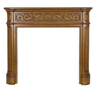 Pearl Mantels 168 48 50 Covington Distressed Oak Fireplace Mantel, Interior Opening 48 Inch Wide by 42 Inch High