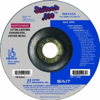 United Abrasives/SAIT 20923 Type 27 4 1/2 Inch by .090 Inch by 7/8 Inch Tech High Performance Cutting Wheels, 25 Pack