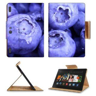 Fruits Food Plants Macro Berries Blueberries  Kindle Fire HDX 8.9 [2013 Version] Premium Deluxe Pu Leather Flip Case Stand Magnetic Cover Open Ports Customized Made to Order Support Ready 9 13/16 Inch (250mm) X 6 7/8 Inch (175mm) X 11/16 Inch (17mm) Liil P