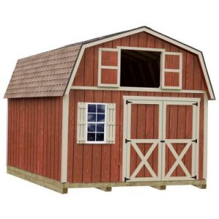 Best Barns Millcreek 12 ft. x 20 ft. Wood Storage Shed Kit with Floor including 4x4 Runners millcreek_1220df