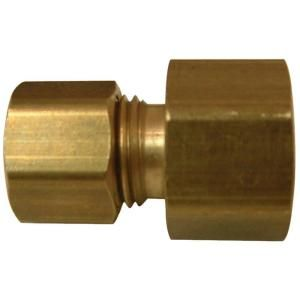 Watts 1/4 in. x 3/8 in. Lead Free Brass Compression x Female Flare Adapter LFA 154