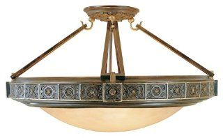 Murray Feiss SF184PAL Medallion 4 Light Semi Flush Ceiling Fixture, Palladio   Semi Flush Mount Ceiling Light Fixtures