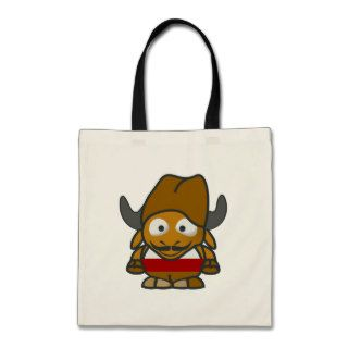 Funny pirate character gnu canvas bags