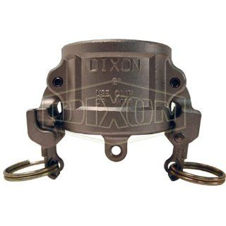 "Dixon Valve RH600EZ Stainless Steel 316 EZ Boss Lock Type H Cam and Groove Fitting, Dust Cap, 6"" Camlock Hose Fittings"