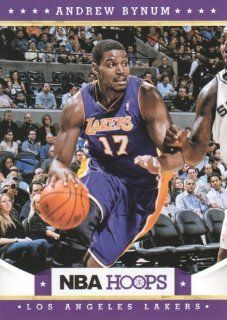 2012 13 Panini NBA Hoops Basketball #197 Andrew Bynum Los Angeles Lakers Trading Card Sports Collectibles