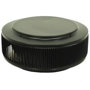Active Ventilation 12 in. Aluminum Round Retro Fit Roof Vent in Black AV 12 RF BL