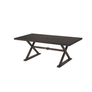 Hampton Bay Woodbury Rectangular Patio Dining Table DY9127 TT