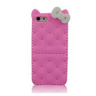 I Need Hello Kitty Cracker TPU Cover Compatible With Apple Iphone 5 with Ears, New Arrivals (PINK) pink Cell Phones & Accessories