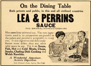 1911 Ad Lea Perrins Sauce Bloody Mary Invention Heinz   Original Print Ad