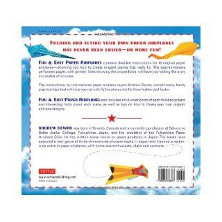 Fun & Easy Paper Airplanes [Full Color Book & 84 Perforated Pages] Andrew Dewar 9780804838887 Books