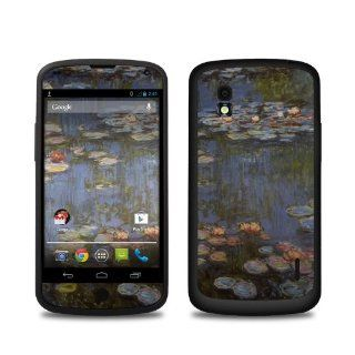 Monet   Water lilies Design Protective Decal Skin Sticker (High Gloss Coating) for LG Nexus 4 E960 Cell Phone Cell Phones & Accessories
