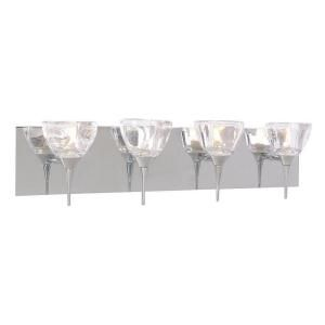 Hampton Bay Jasmine Collection 4 Light Chrome Bathbar BR 4JNE 43
