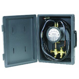 Dwyer Model A 471 Portable Kit Includes Plastic Case for Series 4000 Capsuhelic Differential Pressure Gauge, Mounting Bracket, A 309 3 Way Manifold Valve, (2) A 230 High Pressure Hoses And All Necessary Fittings Industrial Pressure Gauges Industrial &