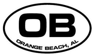 "6"" Orange Beach AL euro oval style printed vinyl decal sticker for any smooth surface such as windows bumpers laptops or any smooth surface."