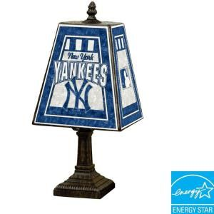 The Memory Company MLB 14 in. Art Glass Table Lamp   New York Yankees  DISCONTINUED MLB NYY 462