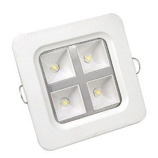 LOHAS LED Ceiling Square Panel Light Bulb 4W 2800 3200K (Warm White) with 85 265V Driver Power Musical Instruments