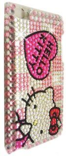 HELLO KITTY Apple iPod Touch 4th Generation Rhinestones Bling BACK PIECE Case (#12) + FREE WirelessGeeks247 Detachable Neck Strap / Lanyard