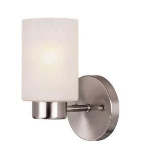 Westinghouse Sylvestre 1 Light Brushed Nickel Wall Fixture 6227800