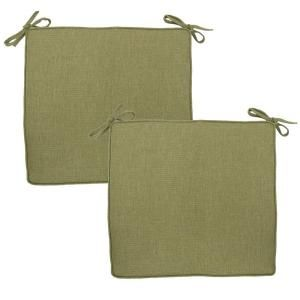 Hampton Bay Green Texture Deluxe Outdoor Chair Cushion (2 Pack) 7347 02003000