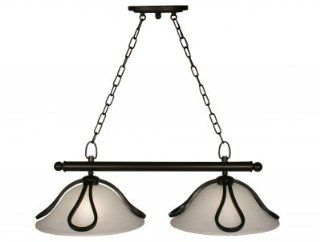 Z Lite 317 2 Carlisle Two Light Island/Billiard, Metal Frame, Bronze Finish and White Feather Shade of Glass Material   Ceiling Pendant Fixtures