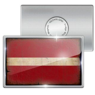 "Fridge Magnet ""Latvia Flag with a vintage look""   Neonblond   Refrigerator Magnets"