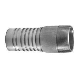 "PT Coupling Progrip C50 External Crimp System Series Stainless Steel 304 Hose Fitting, Adapter, 1"" NPT Male Barbed Hose Fittings"