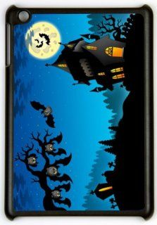 Rikki KnightTM Happy Halloween Haunted House hanging Bats Design Protective Black Snap on slim fit shell case for Apple iPad� Mini Computers & Accessories