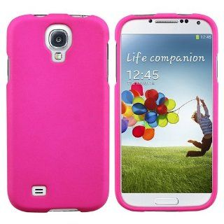 CommonByte Hot Pink Rubberized Hard Case Snap On Phone Cover For Samsung Galaxy S4 IV i9500 Cell Phones & Accessories