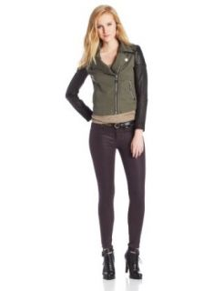 Doma Women's Military Leather Jacket