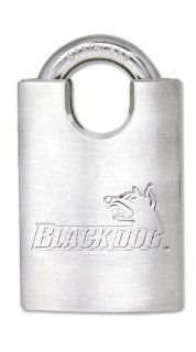 Black Dog 55166 Stainless Steel Shrouded Padlock Keyed Different, 1 1/2 Inch