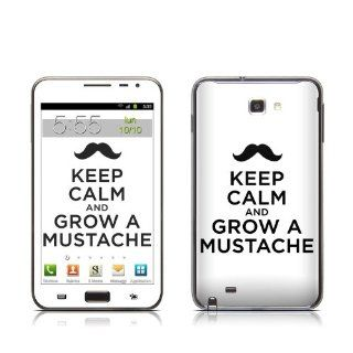 Keep Calm   Mustache Design Protective Skin Decal Sticker for Samsung Galaxy Note GT N7000 Cell Phone Cell Phones & Accessories