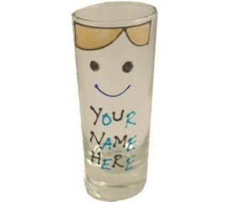 PERSONALIZED 'Your name here' Gift Shot glass (male)(Tall) Kitchen & Dining