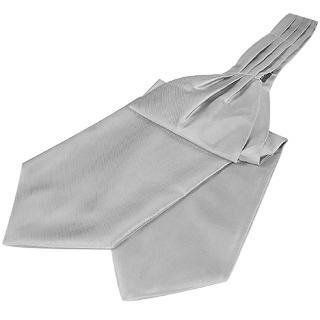Forzieri Solid Color Pure Silk Ascot Grey at  Men�s Clothing store