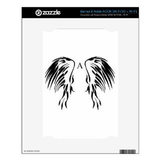 Twirls and swirls Angel wings items Decal For The NOOK
