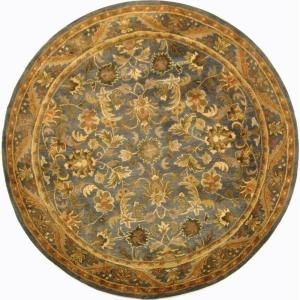 Safavieh Antiquity Blue/Gold 6 ft. x 6 ft. Round Area Rug AT52C 6R