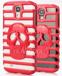HJX Red S IV i9500 Creative Cool Skull Head Shutter High Ladder Hollow Bumper PC Hard Case Protective Cover For Samsung Galaxy S IV 4 i9500 Cell Phones & Accessories
