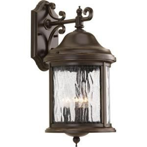Progress Lighting Ashmore Collection 3 Light Antique Bronze Wall Lantern P5650 20