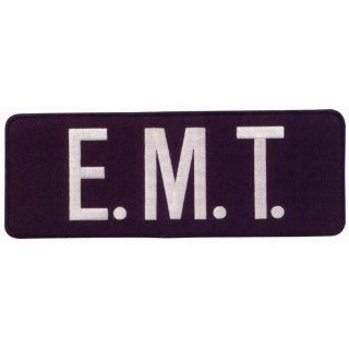 "PARAMEDIC EMT EMS Large Uniform Jacket Back Patch 11"" x 4"" with 3"" High WHITE letters on NAVY Background Sports & Outdoors"
