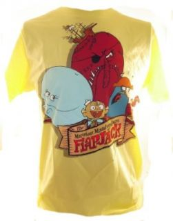 Flapjack Mens T Shirt   The Marvelous Misadventures of   Cast on Yellow Tee Clothing