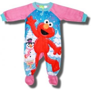 "Sesame Street ""Elmo's Snow Dance"" Footed Blanket Sleeper for Infant Girls   24 Months Clothing"