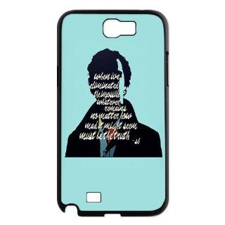 Designyourown Case Sherlock Samsung Galaxy Note 2 Case Samsung Galaxy Note 2 N7100 Cover Case SKUnote2 393 Cell Phones & Accessories