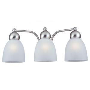 Sea Gull Lighting Metropolis 3 Light Brushed Nickel Vanity Fixture 44036 962